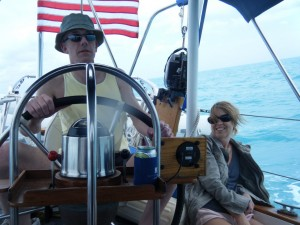 Kevin and Debbie aboard Stolen Child